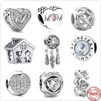 925 Sterling Silver Charms for Women, Dream Catcher, Forever Love, Family, Beads, Original, Pandora, New Collection