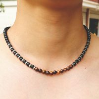 Natural Stone Necklace for Men, Adjustable Short Necklace for Hombre, Hip Hop Rock Charm, Beads, Male Accessories, 2021