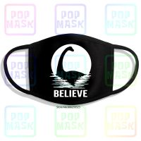 Loch Ness Monster Nessie - Anti-Pollution Mouth Mask, Cotton, Reusable, With Dragon Mythology, Folk, Crytide Brand