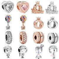 Pandora Original - Glass Jewelry for Women, New, Heart Shaped, Balloon Crown, for Boy and Girl, Trendy Classic Beads