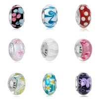 Aolly Murano Glass Beads for Women and Girls, European Colorful Accessories, Charms Suitable for Pandora, Necklace, Bracelet, DIY, Jewelry, New Collection