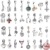 Fine 925 Sterling Silver Beads for Mother and Daughter, Original Pandora Jewelry, DIY