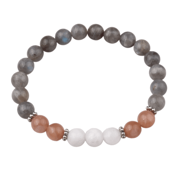 Pas cher ce Bracelet « Magic of the Sky » en Labradorite, Sun Stone et Lu Stone.   tendance 2021